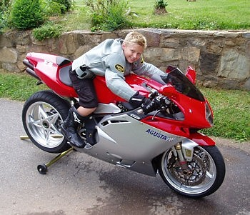 Christian at 10 years old.. Future Motorcyclist?
