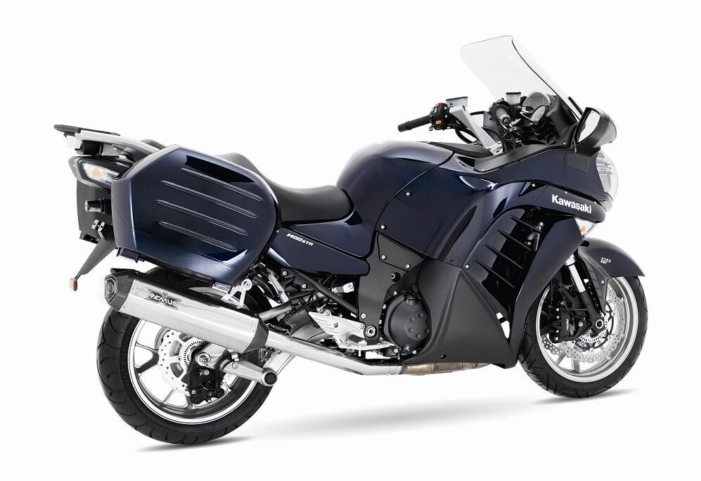 remus hexacone slip-on exhaust systems for the kawasaki concours 1400