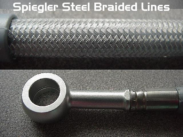 Steel Braided Hydraulic Lines : Spiegler steel braided brake lines for the bmw k rs